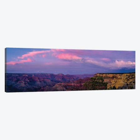 View Of Sunset Over Canyon, Grand Canyon, Arizona, USA Canvas Print #PIM16069} by Panoramic Images Canvas Art