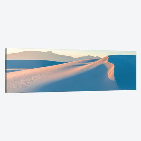 White Gypsum Sand Dunes In Desert And Under Clear Sky, White Sands National Monument, New Mexico, USA Canvas Print #PIM16077} by Panoramic Images Canvas Wall Art