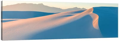 White Gypsum Sand Dunes In Desert And Under Clear Sky, White Sands National Monument, New Mexico, USA Canvas Art Print
