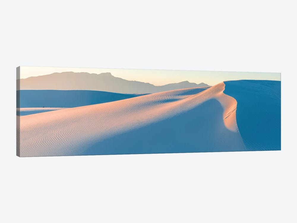 White Gypsum Sand Dunes In Desert And Under Clear Sky, White Sands National Monument, New Mexico, USA by Panoramic Images 1-piece Canvas Artwork