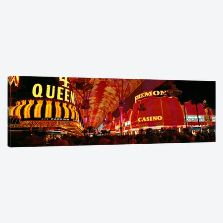 Fremont Street, Las Vegas, Nevada, USA Canvas Print #PIM1607} by Panoramic Images Canvas Artwork