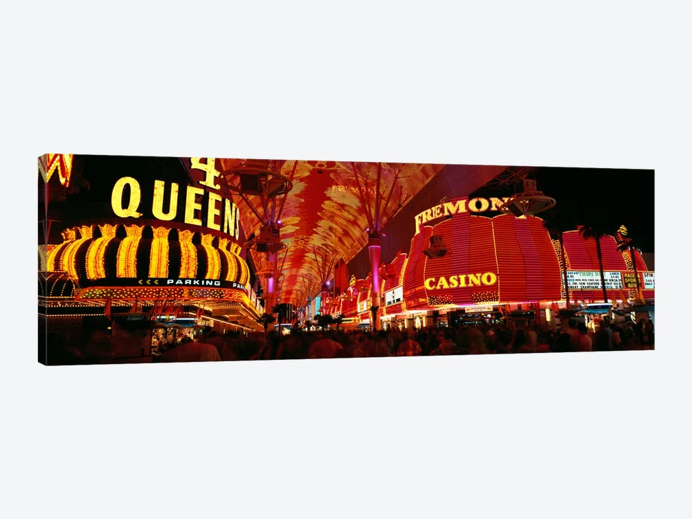 Fremont Street, Las Vegas, Nevada, USA by Panoramic Images 1-piece Canvas Print