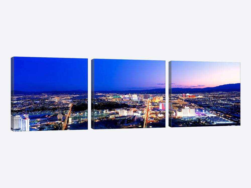 Las Vegas Strip, Nevada, USA by Panoramic Images 3-piece Canvas Art