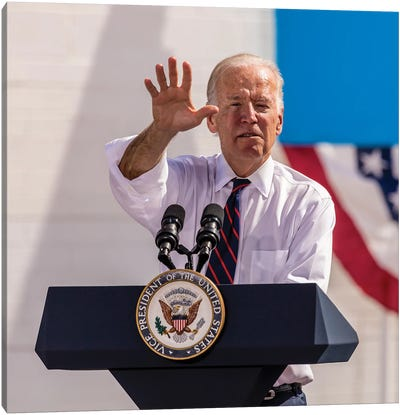 Vice President Joe Biden Campaigns In Nevada For Democratic Candidates, October 13, 2016 Canvas Art Print