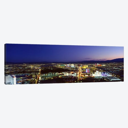 Cityscape at night, The Strip, Las Vegas, Nevada, USA Canvas Print #PIM1609} by Panoramic Images Art Print