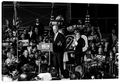 Vice President Joe Biden Delivers Super Tuesday Victory Speech In Los Angeles, March 3, 2020 Canvas Art Print
