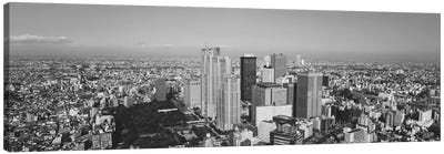 Aerial View Of A City, Tokyo Prefecture, Japan Canvas Art Print