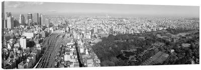Aerial View Of A Cityscape, Tokyo, Kanto Region, Honshu, Japan Canvas Art Print