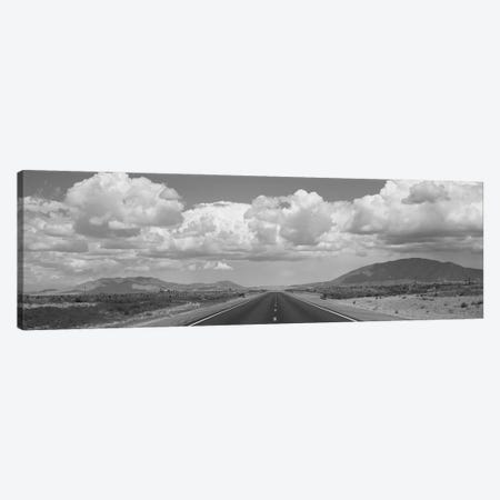 An Empty Road Running Through A Landscape, Highway 54, New Mexico, USA Canvas Print #PIM16110} by Panoramic Images Canvas Wall Art