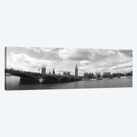 Big Ben And Houses Of Parliament Viewed From The Other Side Of Thames River, City Of Westminster, London, England Canvas Print #PIM16119} by Panoramic Images Canvas Artwork