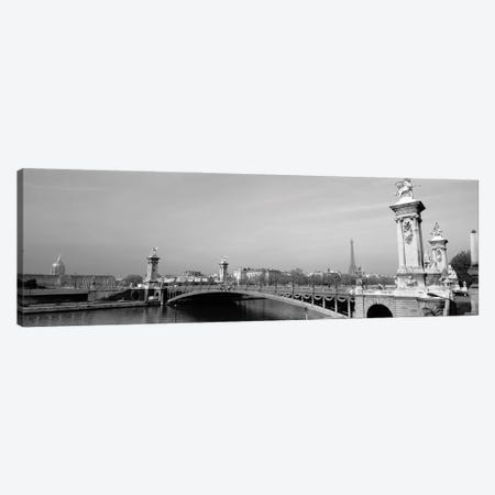 Bridge Over A River, Alexandre III Bridge, Eiffel Tower, Paris, France Canvas Print #PIM16124} by Panoramic Images Canvas Artwork