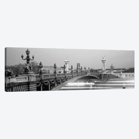 Bridge Over A River, Seine River, Paris, France Canvas Print #PIM16126} by Panoramic Images Canvas Art