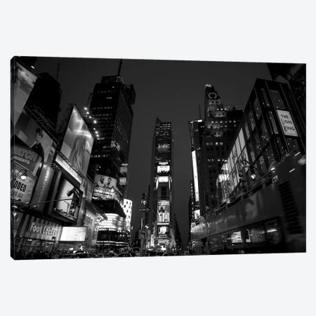 Buildings In A City Lit Up At Dusk, Times Square, Manhattan, New York City, New York State, USA Canvas Print #PIM16128} by Panoramic Images Canvas Art Print