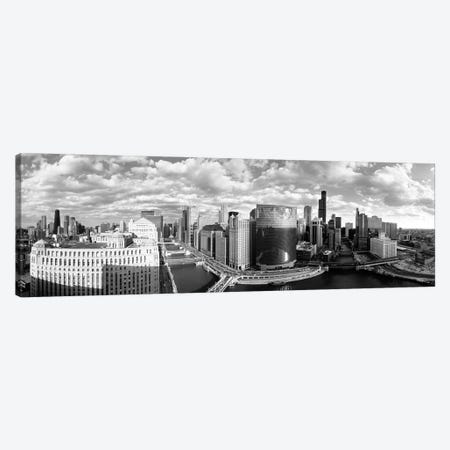 Chicago River Curve Chicago IL Canvas Print #PIM16136} by Panoramic Images Canvas Print