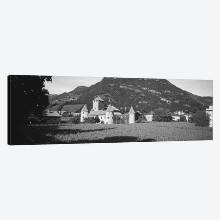 Field In Front Of A Castle, Castle Firmiano, Bolzano, Italy Canvas Print #PIM16165} by Panoramic Images Canvas Art