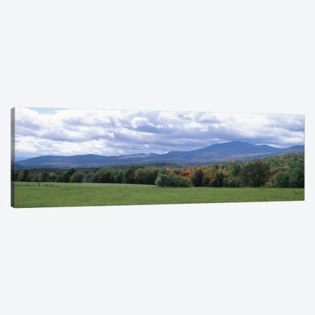 Clouds over a grassland, Mt Mansfield, Vermont, USA Canvas Print #PIM1616} by Panoramic Images Canvas Print