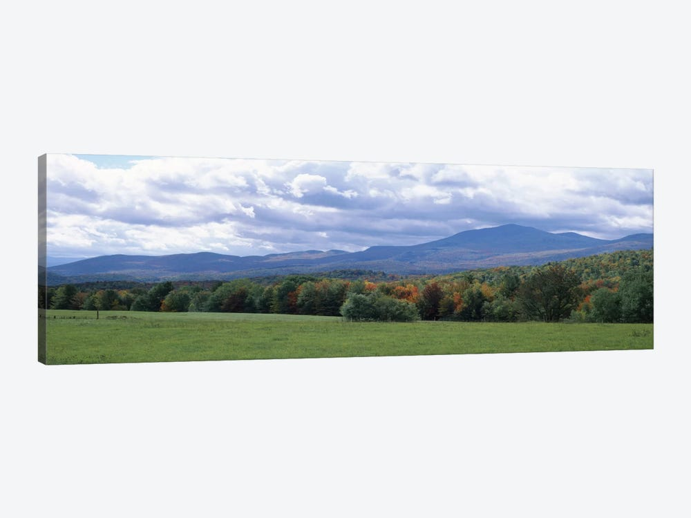 Clouds over a grassland, Mt Mansfield, Vermont, USA by Panoramic Images 1-piece Canvas Print