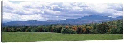 Clouds over a grassland, Mt Mansfield, Vermont, USA Canvas Art Print