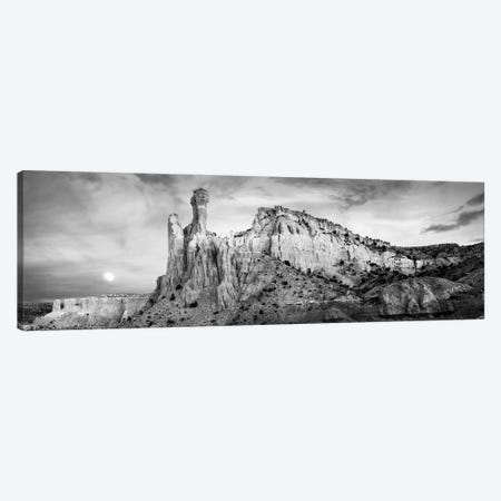 Full Moon Sets In The Redrock Country Of Ghost Ranch, New Mexico, USA Canvas Print #PIM16172} by Panoramic Images Canvas Wall Art