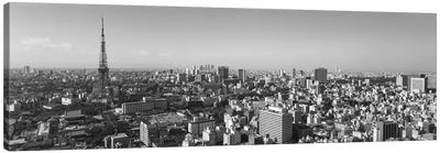 High Angle View Of A City, Tokyo, Japan Canvas Art Print