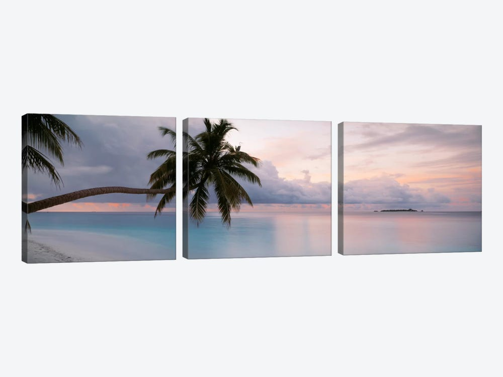 Indian Ocean Maldives by Panoramic Images 3-piece Canvas Wall Art