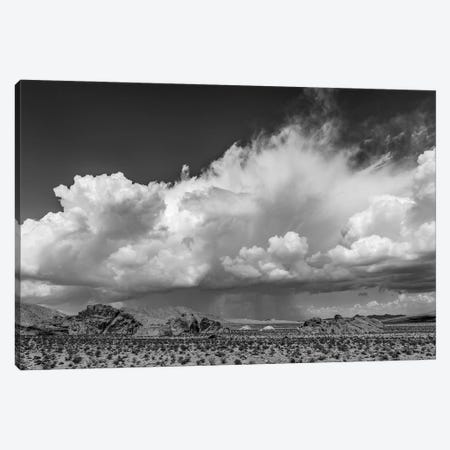 Landscape With Desert Under Blue Sky And Clouds, Valley Of Fire State Park, Nevada, USA Canvas Print #PIM16189} by Panoramic Images Canvas Art Print