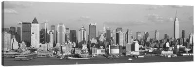 Manhattan Skyline At Waterfront, New York City, New York State, USA Canvas Art Print