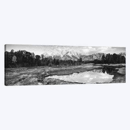 Reflection Of Clouds On Water, Beaver Pond, Teton Range, Grand Teton National Park, Wyoming, USA Canvas Print #PIM16212} by Panoramic Images Art Print