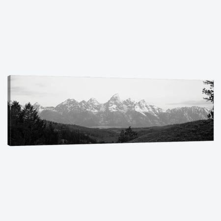 Snowcapped Mountain Range At Dawn, Teton Range, Grand Teton National Park, Wyoming, USA Canvas Print #PIM16237} by Panoramic Images Canvas Artwork