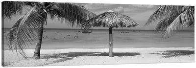 Sunshade On The Beach, La Boca, Cuba Canvas Art Print