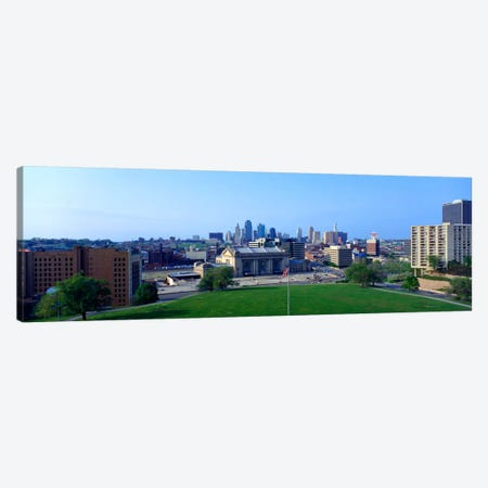 Buildings in a city, Kansas City, Jackson County, Missouri, USA Canvas Print #PIM1624} by Panoramic Images Canvas Artwork