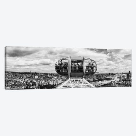 Tourists On Millennium Wheel, London, England Canvas Print #PIM16254} by Panoramic Images Canvas Art