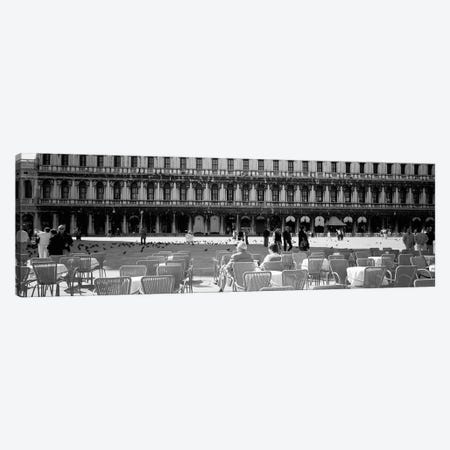Tourists Outside Of A Building, Venice, Italy Canvas Print #PIM16255} by Panoramic Images Canvas Art