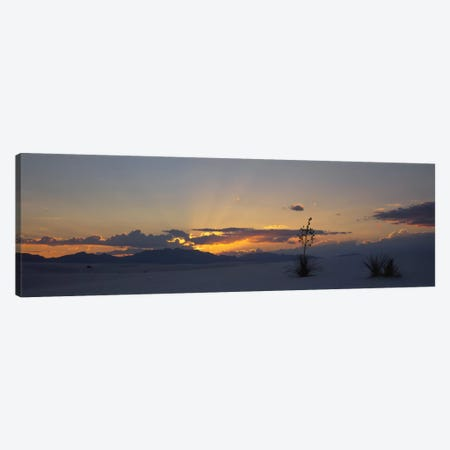 Cloudy Sunset, White Sands National Monument, New Mexico, USA Canvas Print #PIM1625} by Panoramic Images Canvas Art