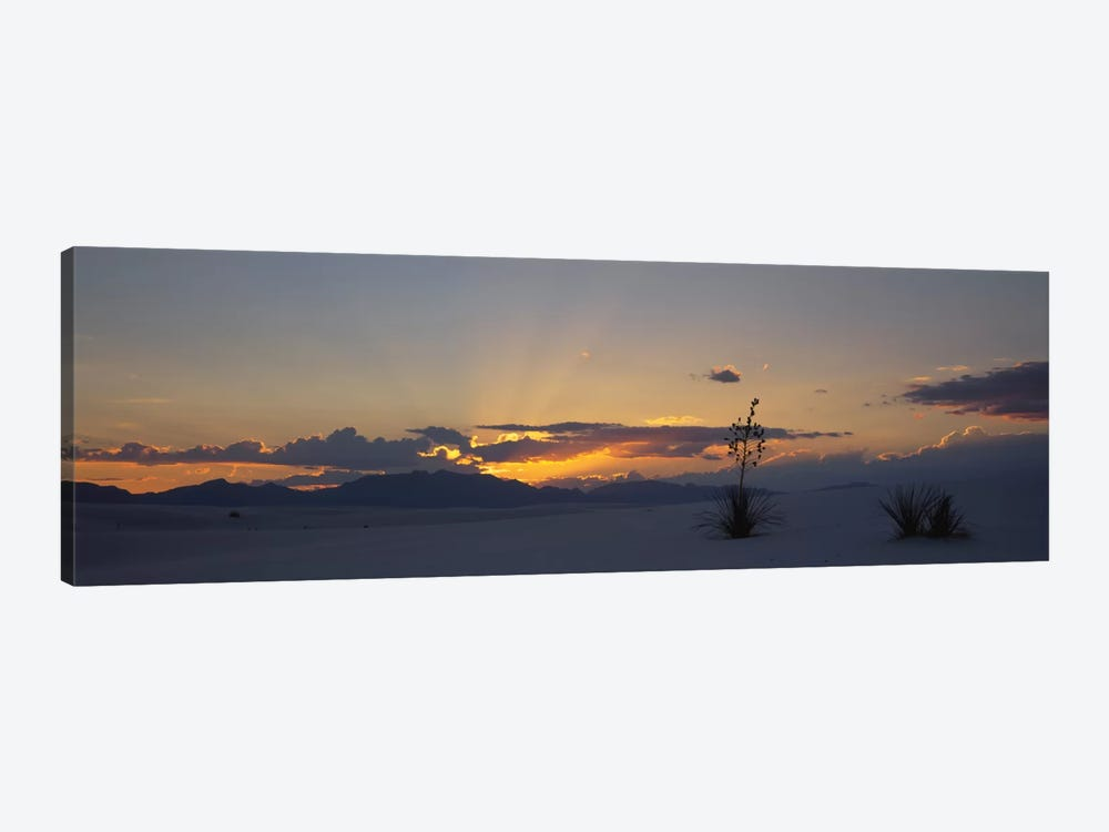 Cloudy Sunset, White Sands National Monument, New Mexico, USA by Panoramic Images 1-piece Canvas Print