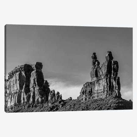 View Of Big Rock On Valley Of The Gods, Mexican Hat, Utah, USA Canvas Print #PIM16264} by Panoramic Images Canvas Print