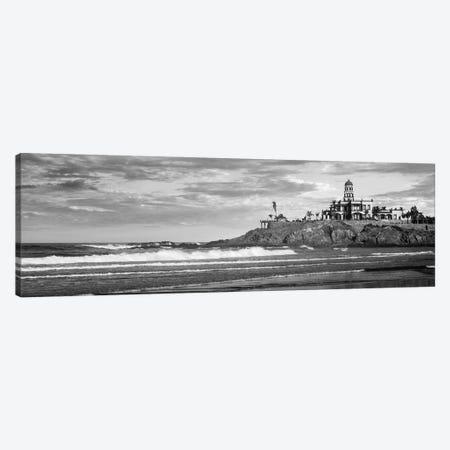 Waves On Beach With Hacienda Cerritos Hotel In The Background, Cerritos Beach, Baja California Sur, Mexico Canvas Print #PIM16273} by Panoramic Images Canvas Art Print