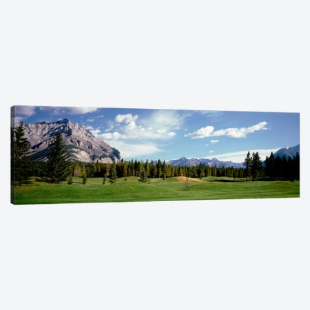 Golf Course Banff Alberta Canada Canvas Print #PIM1627} by Panoramic Images Canvas Artwork