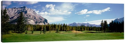 Golf Course Banff Alberta Canada Canvas Art Print