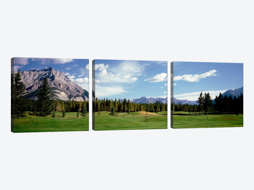 Golf Course Banff Alberta Canada by Panoramic Images 3-piece Canvas Art Print