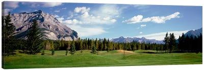Golf Course Banff Alberta Canada Canvas Art Print