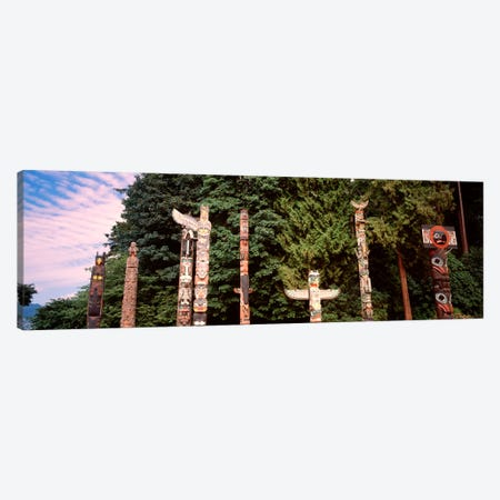 Totem Poles, Brockton Point, Stanley Park, Vancouver, British Columbia, Canada Canvas Print #PIM1629} by Panoramic Images Canvas Print