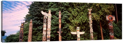 Totem Poles, Brockton Point, Stanley Park, Vancouver, British Columbia, Canada Canvas Art Print