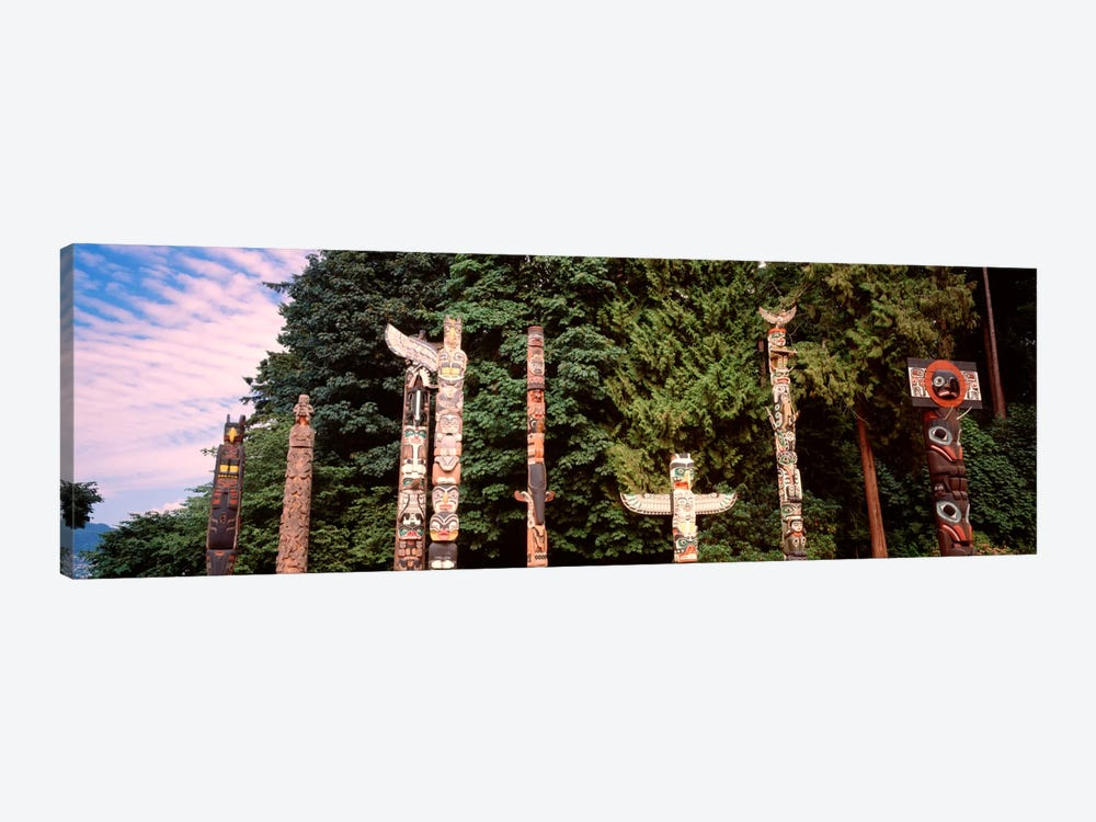 Totem Poles, Brockton Point, Stanley Park, Vancouver, British Columbia, Canada by Panoramic Images 1-piece Art Print