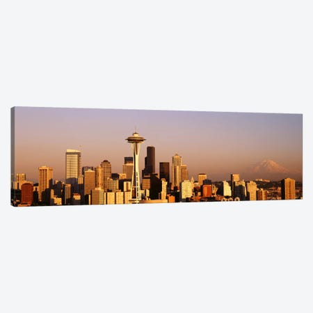 Skyline, Seattle, Washington State, USA Canvas Print #PIM1630} by Panoramic Images Canvas Artwork