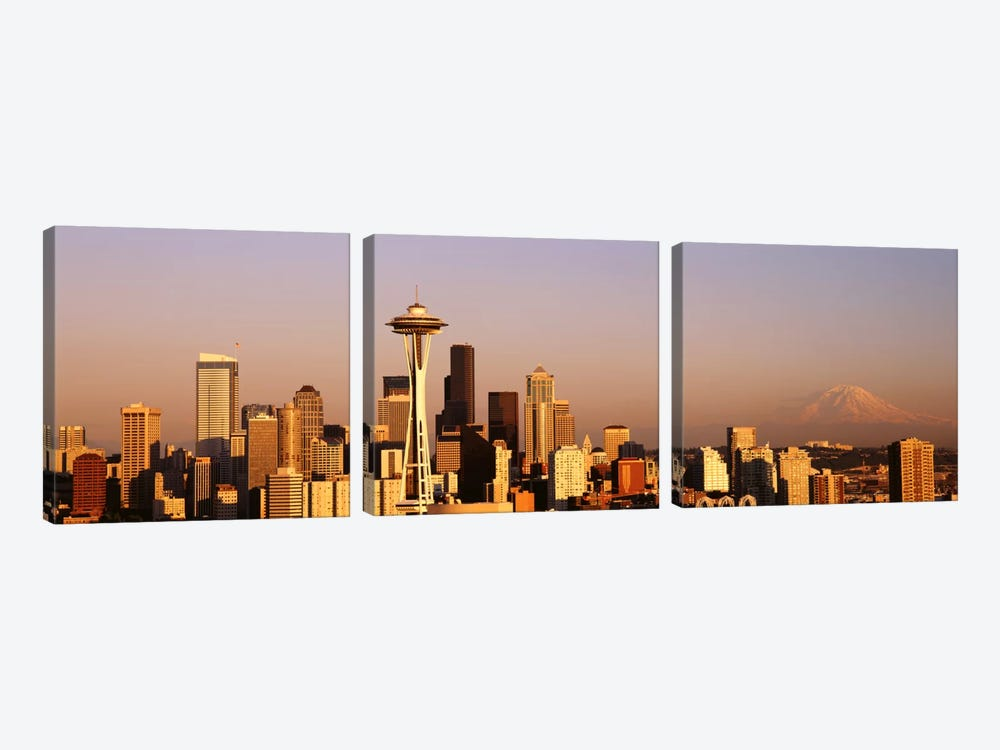 Skyline, Seattle, Washington State, USA by Panoramic Images 3-piece Canvas Art Print