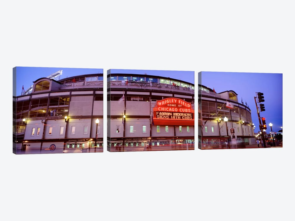 USA, Illinois, Chicago, Cubs, baseball V by Panoramic Images 3-piece Canvas Art