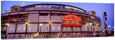 USA, Illinois, Chicago, Cubs, baseball V Canvas Art Print