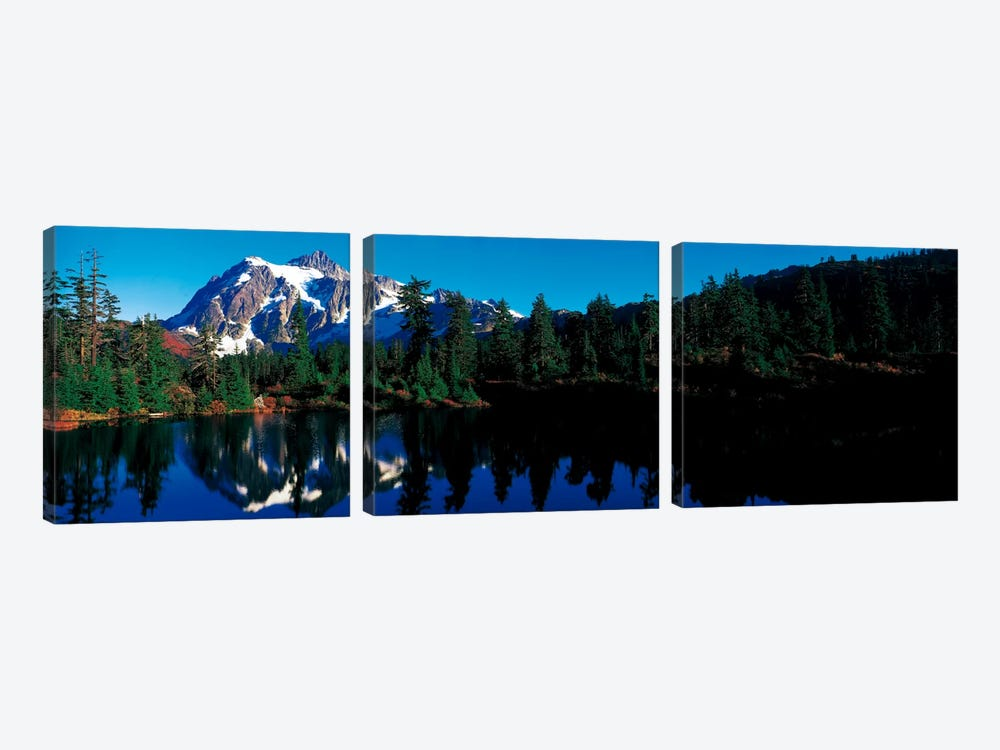 Mount Shuksan North Cascades National Park WA by Panoramic Images 3-piece Canvas Art