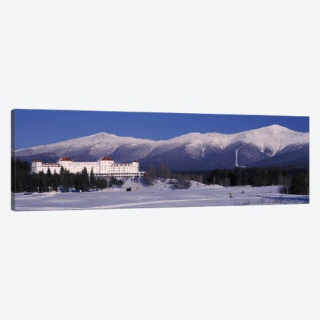 Hotel near snow covered mountainsMt. Washington Hotel Resort, Mount Washington, Bretton Woods, New Hampshire, USA Canvas Print #PIM1634} by Panoramic Images Canvas Print